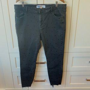Rockstar Super Skinny Black Polka Dot Jeans